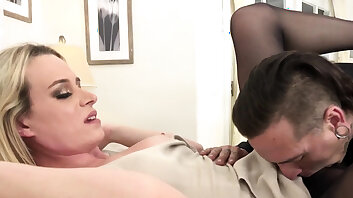Ass banged tgirl gets mouth spermed